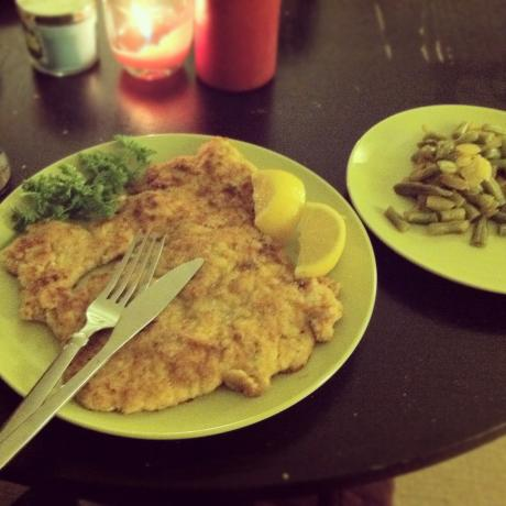 Chicken Schnitzel. Photo by Igalloway