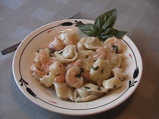 Shrimp and Tortellini. Photo by Lori Mama