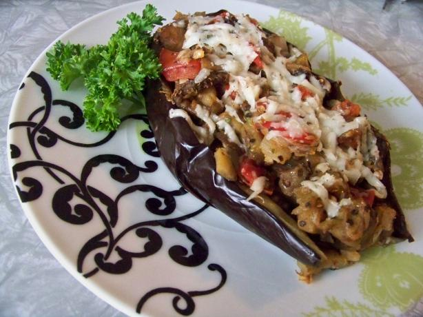 Stuffed Eggplant With Cheese and Tomatoes. Photo by Prose