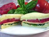 Tomato, Basil, & American Cheese Sandwich