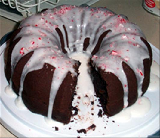 Chocolate Bundt Cake With Peppermint Glaze. Photo by Daymented