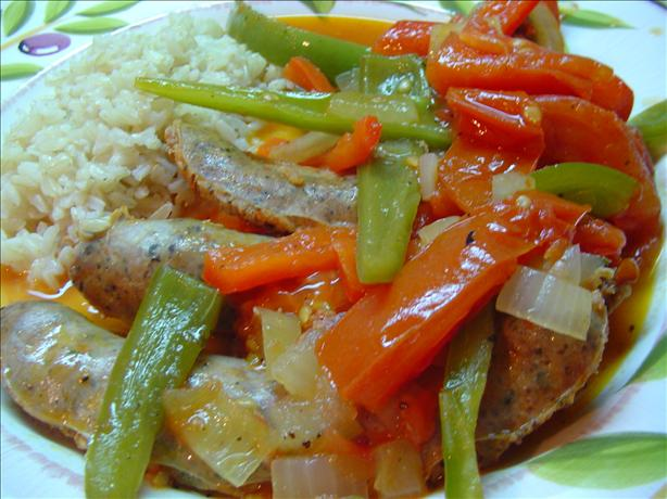 Sausages & Bell Peppers. Photo by CountryLady