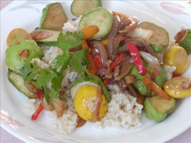Baby Squash Stir Fry------. Photo by Rita~