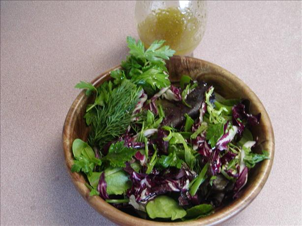 Truffle Dressing/ Herb Salad. Photo by Rita~