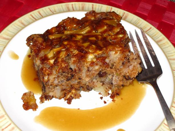 October Apple Cake With Hot Caramel Sauce. Photo by CaliforniaJan