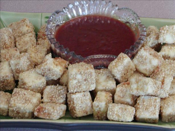 Deep Fried Tofu With Asian Plum Sauce or Thai Peanut Sauce. Photo by Rita~