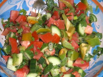 Chopped Mediterranean Salad. Photo by Leggy Peggy