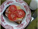 Hot Open-Faced Sandwich