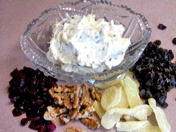 Walnut, Raisin,dried Cranberries Cream Cheese Spread. Photo by Rita~