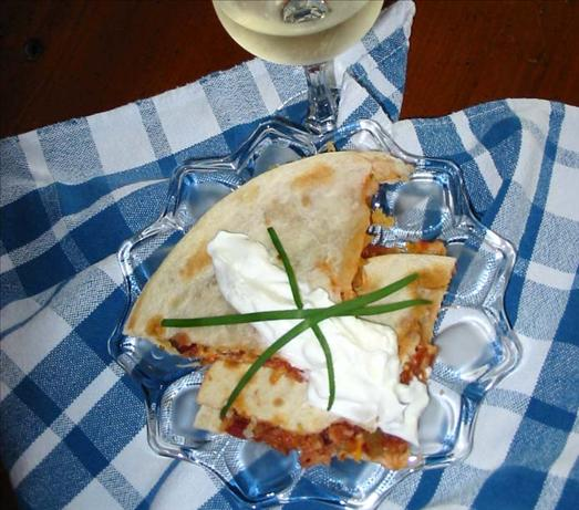 Mexican Bacon Quesadillas. Photo by Caroline Cooks