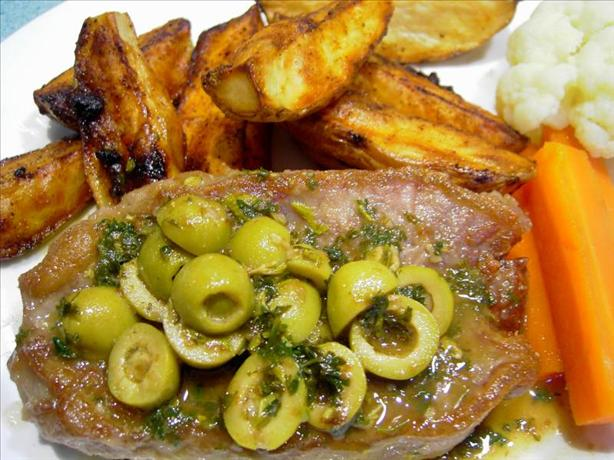 Lemon and Olive Veal Steaks. Photo by JustJanS