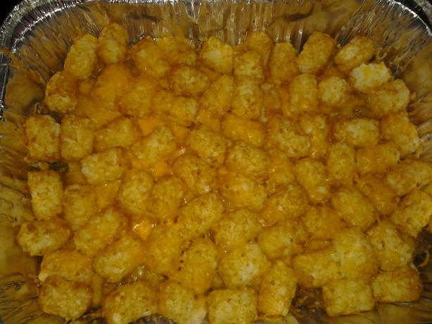 1,2,3,4, Tater Tot Casserole. Photo by thatmixedchick2013