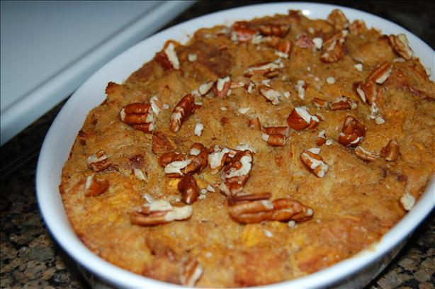 Pumpkin Bread Pudding (Low Fat). Photo by mikey & ev