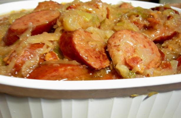 Crock Pot Sauerkraut Supper. Photo by Divaconviva