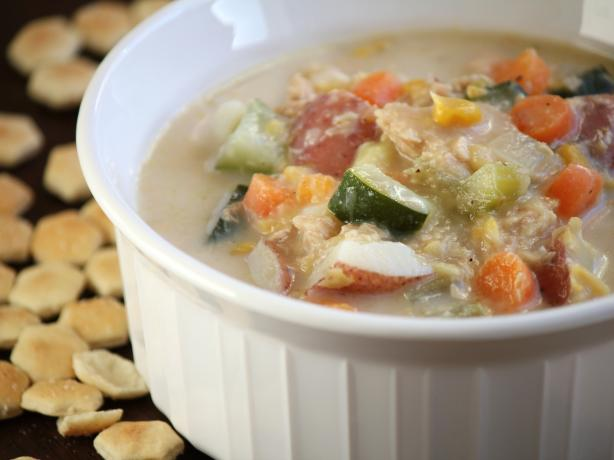 Hearty Salmon Chowder. Photo by Delicious as it Looks