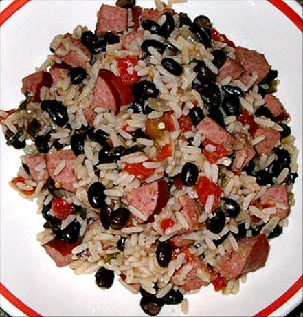 Black Beans, Sausage and Rice. Photo by Daydasa