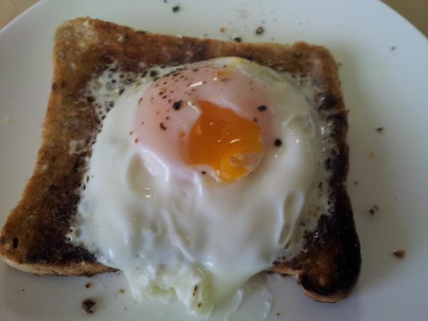 Microwave Poached Egg on Toast. Photo by I'mPat
