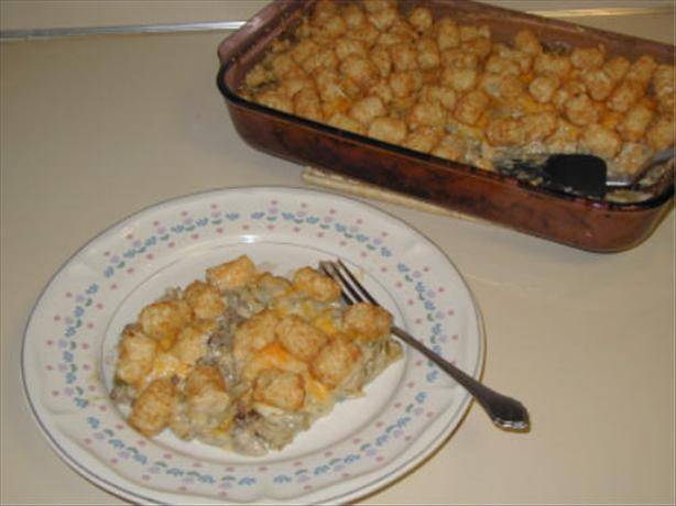 Tater Tot Casserole. Photo by Sidd