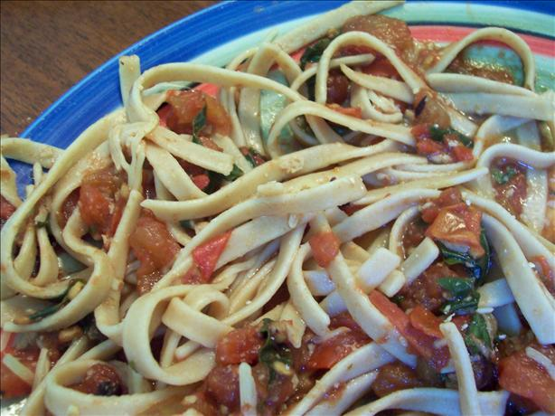 Balsamic Tomato-Basil Pasta. Photo by ladypit