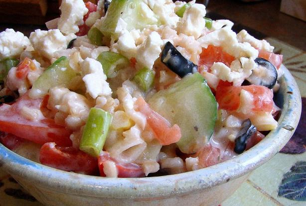Greek Rice & Feta Salad. Photo by Derf