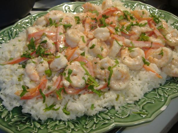 Shrimp in Ginger Coconut Cream. Photo by vivmom