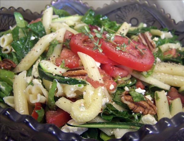 Feta, Spinach and Pecan Pasta Salad. Photo by PaulaG