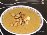 Curried Parsnip and Apple Soup With Parsnip Crisps