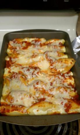Baked Stuffed Pasta Shells. Photo by soccerfish909