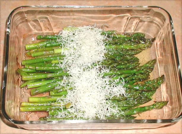 Balsamic Roasted Asparagus With Fleur De Sel and Parmesan. Photo by Sandi (From CA)