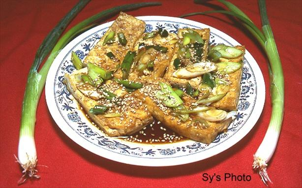 Fried Bean Curd (Tofu) With Soy Sauce by Sy. Photo by Skipper/Sy