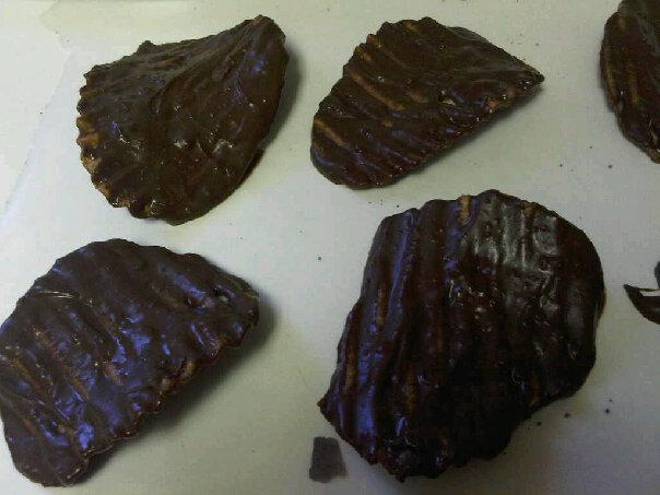 Chocolate Covered Potato Chips. Photo by Chef #1318379