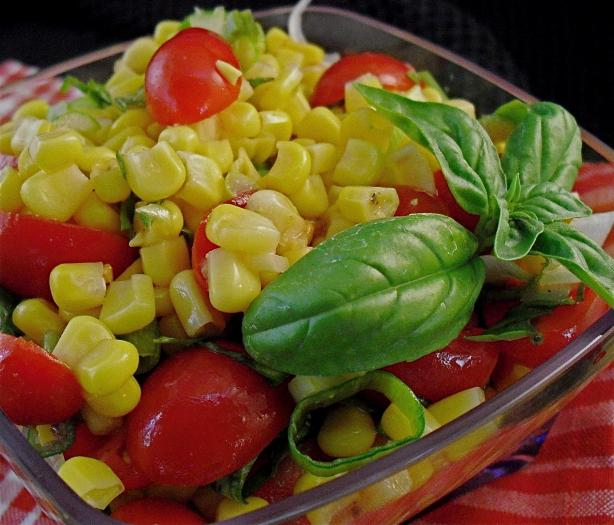 Fresh Tomato and Corn Salad. Photo by PaulaG
