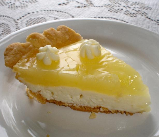 Kittencal's Lemon Cream Cheese Pie. Photo by icynorth