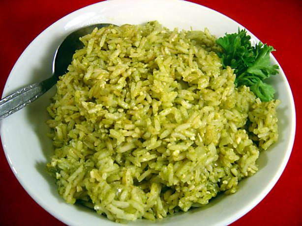 Green Poblano Rice. Photo by :(