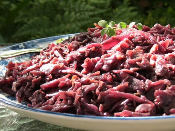 German Rotkohl - Spiced Red Cabbage With Apples and Wine. Photo by BecR
