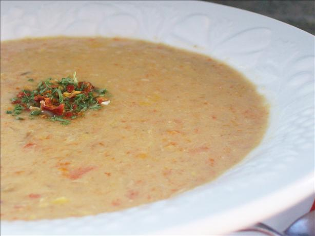 Creamy Corn and Turkey Soup. Photo by * Pamela *