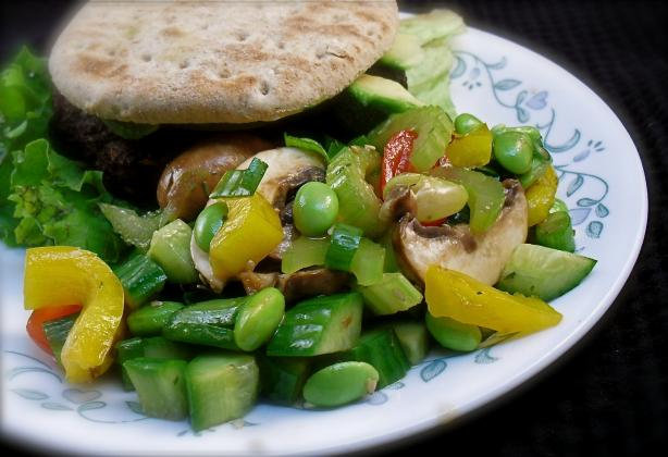 Fresh Edamame Vegetable Salad. Photo by PaulaG
