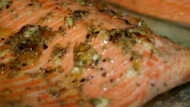 Broiled Steelhead Trout With Rosemary, Lemon and Garlic. Photo by Pril