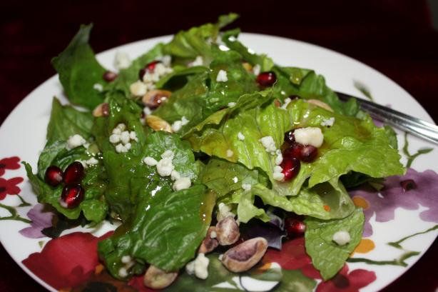 Spring Mix Salad With Pomegranate, Honey Dressing and Toasted P. Photo by IngridH