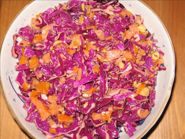 Colorful Red Cabbage Salad. Photo by justcallmejulie