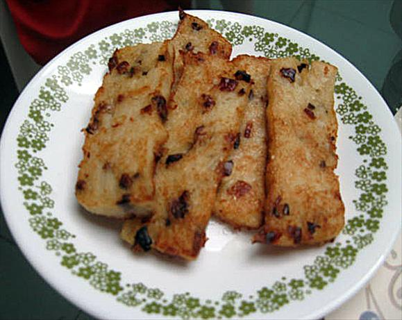 Lo-bak Go - Chinese Radish Cakes. Photo by Shasha