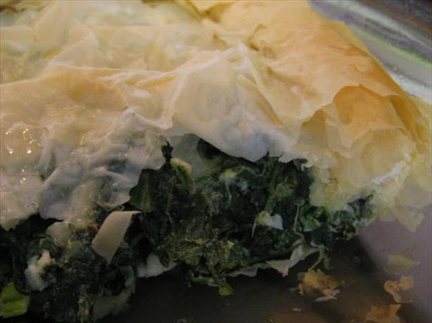 Quick & Easy Spinach and Feta Phyllo Pie. Photo by Vino Girl