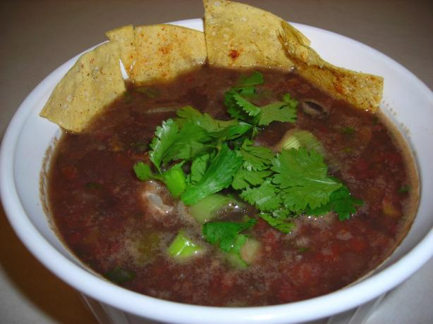 Instant Black Bean Soup. Photo by slickchick
