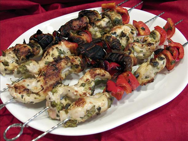 Herbed Chicken Skewers. Photo by Derf