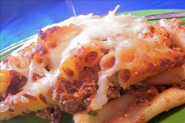 Baked Ziti With Sausage. Photo by *Parsley*