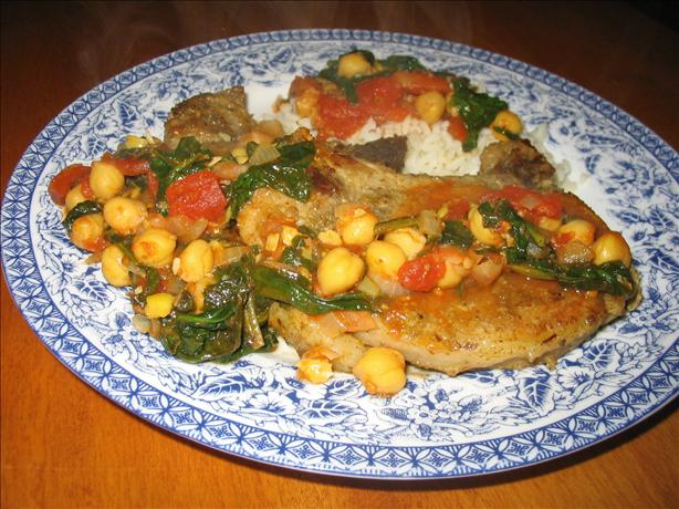 Spice-Rubbed Pork Chops With Chickpea Simmer. Photo by Lorrie in Montreal