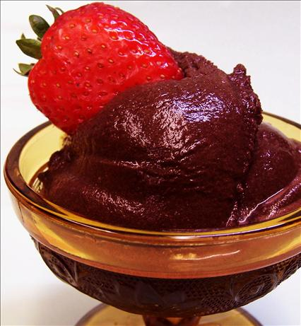 Pareve Chocolate Sorbet. Photo by PaulaG