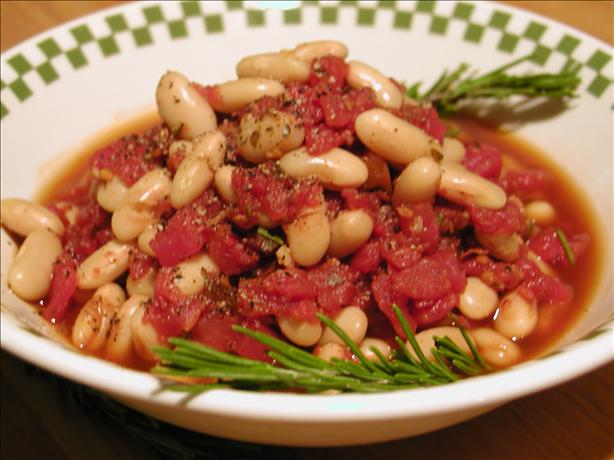 Tuscan Beans and Tomatoes. Photo by GaylaJ
