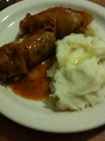 Polish Stuffed Cabbage Rolls (Golabki / Golumkies / Golumpkis). Photo by sdowswell
