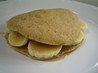 Banana Pancake Sandwich. Recipe by A Messy Cook